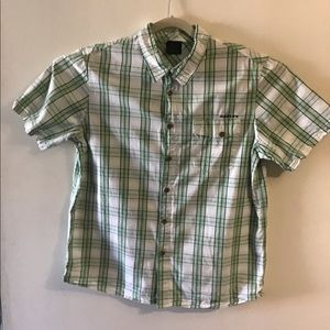 Oakley green plaid button up. XLarge